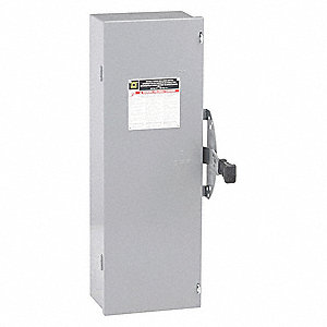 Safety Switch, 1 NEMA Enclosure Type, 100 Amps AC, 75 HP @ 600VAC HP