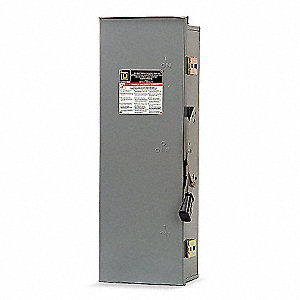 Safety Switch, 3R NEMA Enclosure Type, 100 Amps AC, 15 HP @ 240VAC HP