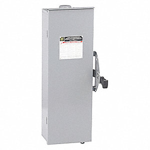 Safety Switch, 3R NEMA Enclosure Type, 100 Amps AC, 30 HP @ 240VAC HP