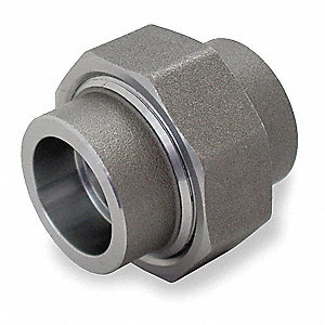 "Union, Socket Weld, 3/4"" Pipe Size - Pipe Fitting"