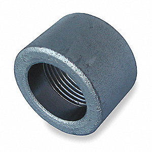 "Galvanized Forged Steel Half Coupling, 1"" Pipe Size, FNPT Connection Type"