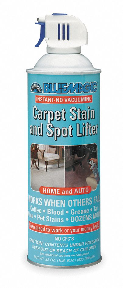BLUE MAGIC Carpet Spot/Stain Lifter, 22 Oz, Aerosol - 1MPV1|900 - Grainger