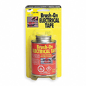 Brush On Electrical Tape,White,4 Oz