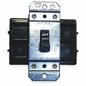Manual Motor Switch, 85 Amps AC, Toggle Operator