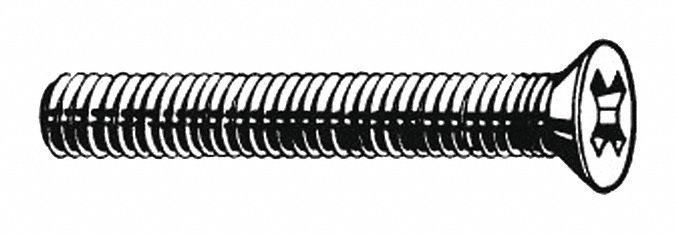 "FABORY U51122.008.0050 #2-56 x 1//2/"" Pan Head Phillips Machine Screw 100 pk."