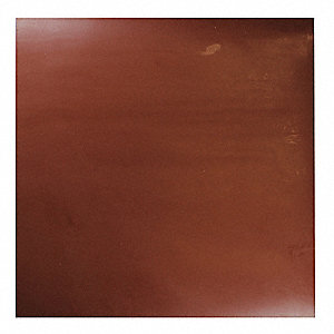 "SBR Rubber Sheet, 12""W x 1 ft.L x 3/16""Thick, 70A, Plain Backing Type, 150% Elongation, Red"