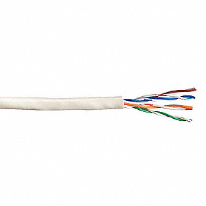 Cable,Cat 5e,24 AWG,1000 ft,White