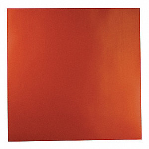 "Silicone Rubber Sheet, 12""W x 1 ft.L x 1/8""Thick, 60A, Plain Backing Type, 200% Elongation, Red"