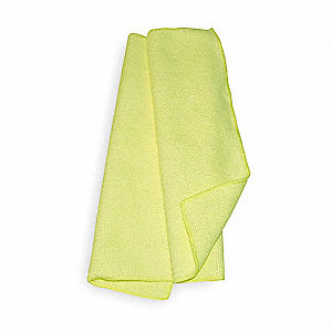 "Yellow Lightweight Microfiber Cloth, 16"" x 16"", 12 PK"