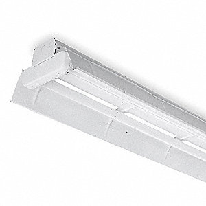 Industrial Fluorescent Fixture, Apertured Reflector Type, 215W Lamp Watts