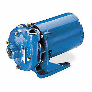 Cast Iron 1-1/2 HP Centrifugal Pump, 115/230VAC Voltage, 21.2/11.1-10.6 Amps