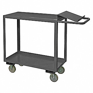 "51-1/4""L x 18-1/4""W x 40-11/16""H Steel Order Picking Stock Cart, 1400 lb. Load Capacity, Number of S"