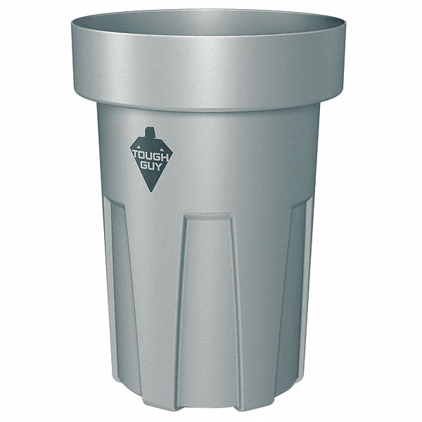 tough guy 30 gal round open top utility trash can 24 3 4 h gray 4wnz1 4wnz1 grainger. Black Bedroom Furniture Sets. Home Design Ideas