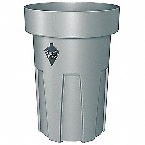 45 gal. Gray, Thermoplastic Utility Container