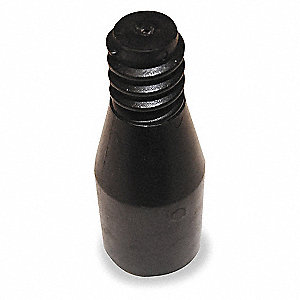 Black Plastic Tip, Length 3-1/4""