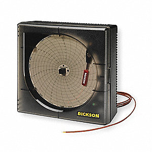 Circular Chart Recorder,Temperature,6 In