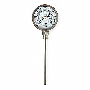 Bimetal Thermom,5 In Dial,50 to 550F