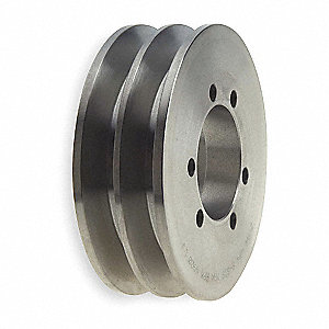 "V-Belt Pulley,Detachable,2Groove,6""OD"