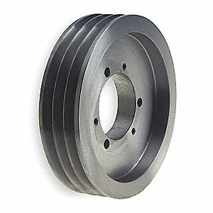 "V-Belt Pulley,Detachable,3Groove,21.2""OD"