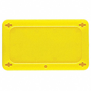 "Blank Tag, Yellow, Height: 1-1/2"" x Width: 3"", 1 EA"