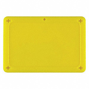 "Blank Tag, Plastic, Height: 2-1/2"", Width: 4"", Yellow"