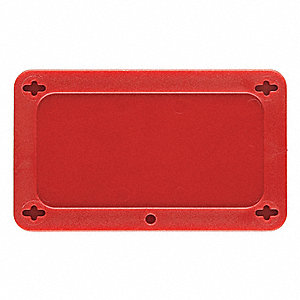 "Blank Tag, Red, Height: 1-1/2"" x Width: 3"", 1 EA"
