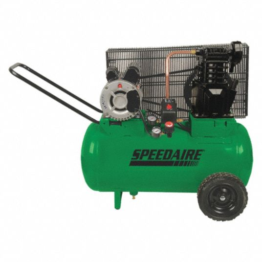 SPEEDAIRE 115/230VAC, 20 gal. Portable Electric Barrel Air Compressor -  1NNF6 1NNF6 - Grainger   Speedaire Air Compressor Wiring Diagram      Grainger