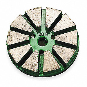 Concrete Grinding Pad,3 In,Green,PK3