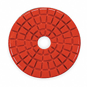 Stone Polishing Pad,3 In,Red,PK10
