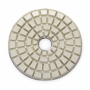 Stone Polishing Pad,3 In,Beige,PK10