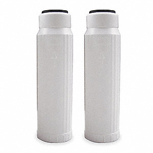 Carbon Filter Cartridge, 5 Microns, Carbon and Polypropylene Filter Media, 3.0 gpm Flow Rate