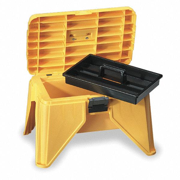 Flambeau Polypropylene Step Stool Tool Box 13 1 4 Quot H X 21