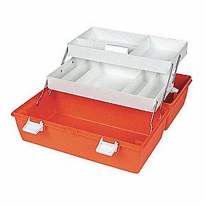 Merveilleux First Aid Storage Case,W 10 1/4,2 Trays