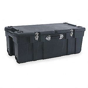 "Mobile Storage Trunk, Black, 14""H x 17-1/2""L x 37""W, 1EA"