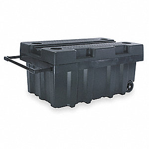 Mobile Jobsite Storage Box,W 24,Black