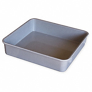 "Nesting Container, Gray, 9-3/4"" Outside Length, 9-1/4"" Outside Width, 4-1/2"" Outside Height"
