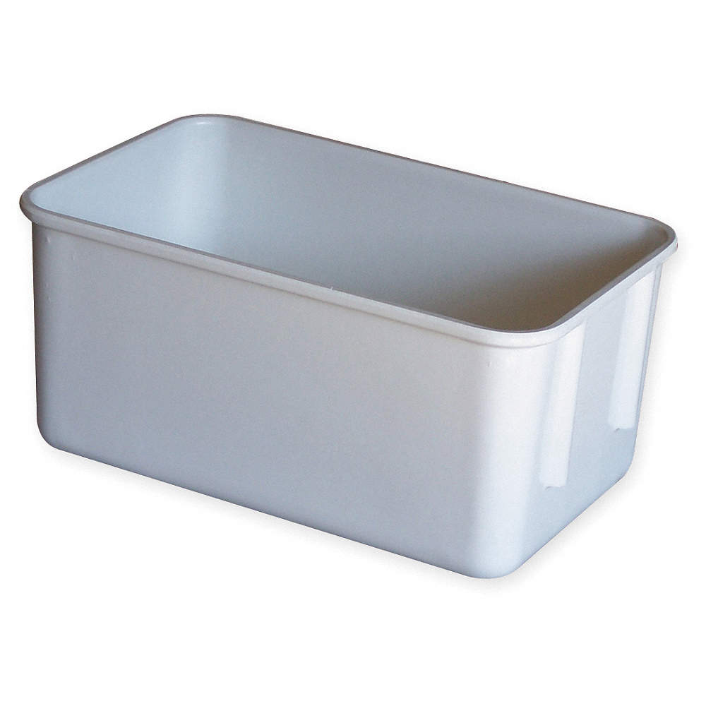 Molded Fiberglass Nesting Container White 4 12h X 9 34l X 6 1