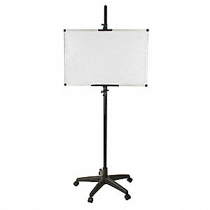 "Magnetic Porcelain Dry Erase Board Easel, Aluminum Frame Material, 24"" Overall Height"