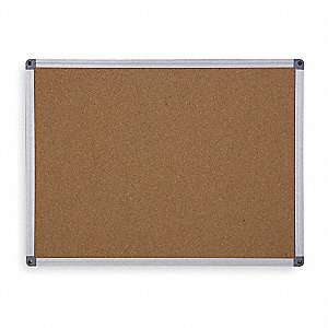 "Push-Pin Bulletin Board, Cork, 48""H x 96""W, Natural"