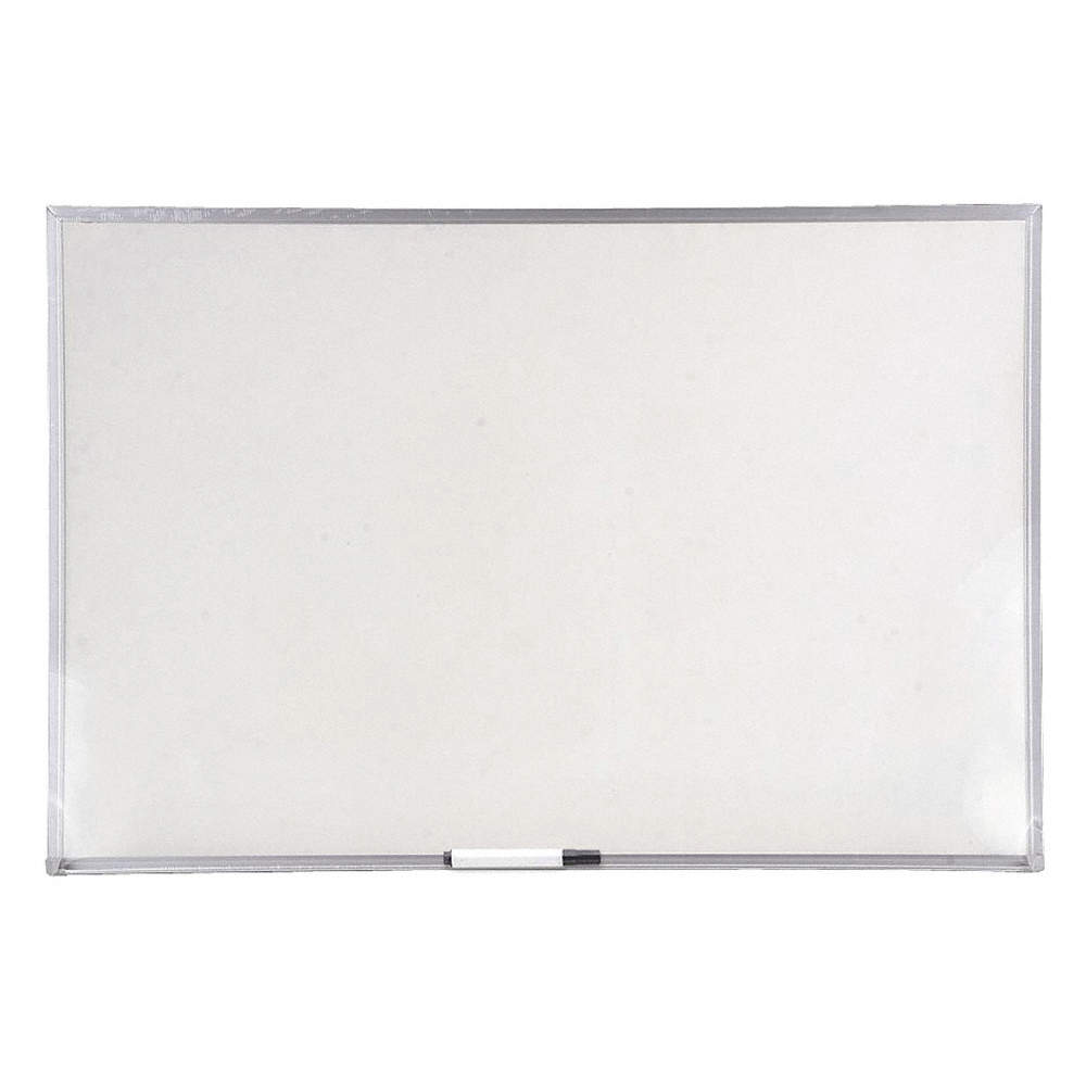 Gloss-Finish Melamine Dry Erase Board, Wall Mounted, 48