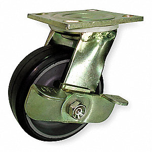 "5"" Light-Medium Duty Swivel Plate Caster, 375 lb. Load Rating"