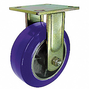 Rigid Plate Caster,Poly,5 in.,1050 lb.