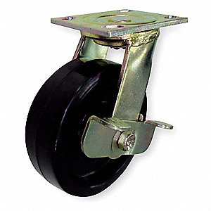 "5"" Plate Caster, 1000 lb. Load Rating"