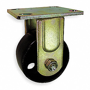 Rigid Plate Caster,Steel,4 in.,1000 lb.
