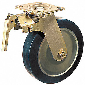 "6"" Medium-Duty Swivel Plate Caster, 1200 lb. Load Rating"