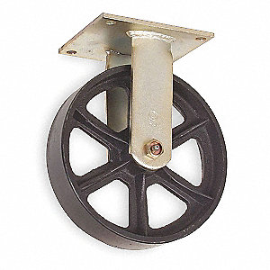 "5"" Medium-Duty Rigid Plate Caster, 1200 lb. Load Rating"