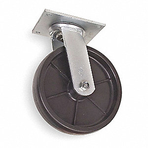 "8"" Medium-Duty Swivel Plate Caster, 1000 lb. Load Rating"