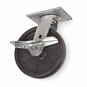 "6"" Light-Medium Duty  Swivel Plate Caster, 900 lb. Load Rating"