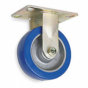 "5"" Medium-Duty Rigid Plate Caster, 1500 lb. Load Rating"