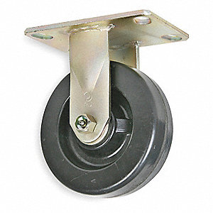 "10"" Medium-Duty Rigid Plate Caster, 1750 lb. Load Rating"